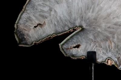 Agate:Quartz steel 2.2 H 61cm W 69cm D 25cm £8,500