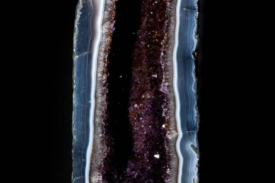 Amethyst:Smokey Quartz geode1  H 106cm W 18cm D 21cm £7,500