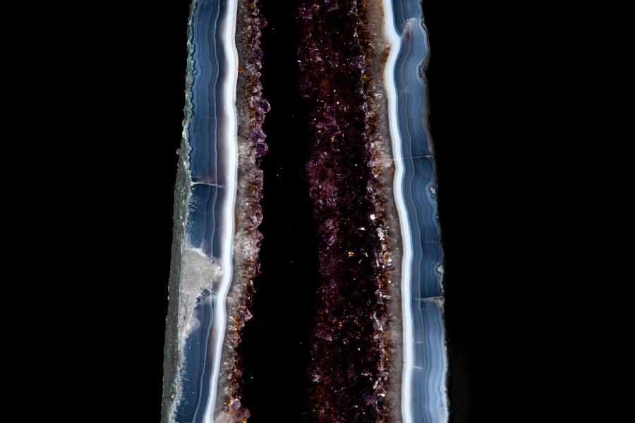Amethyst:Smokey Quartz geode2  H 106cm W 18cm D 21cm £7,500