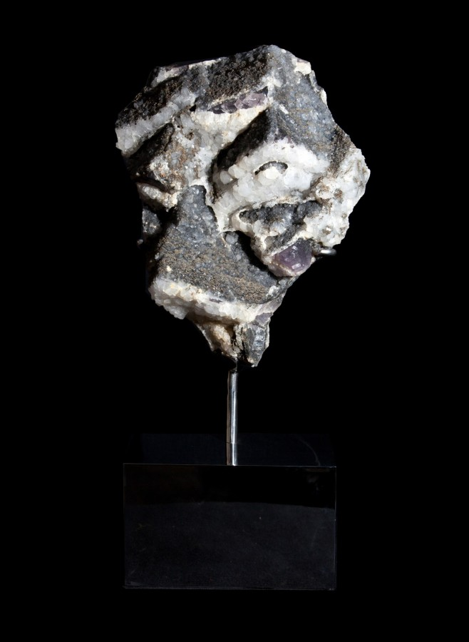 9 Fluorite, Pyrote , Calcite 1 H68cm x W30cm x D18cm