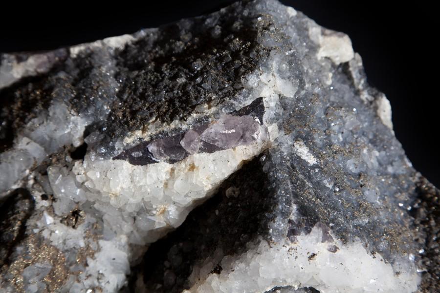 9. Fluorite, Oyrite, Calcite 3