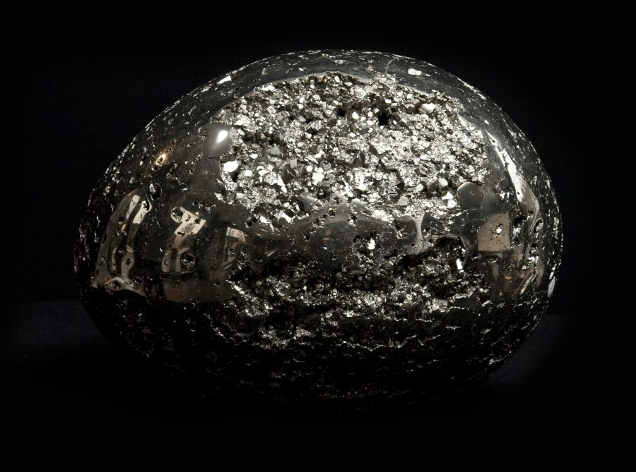 14.Pyrite Egg H26 W35 D24 .1