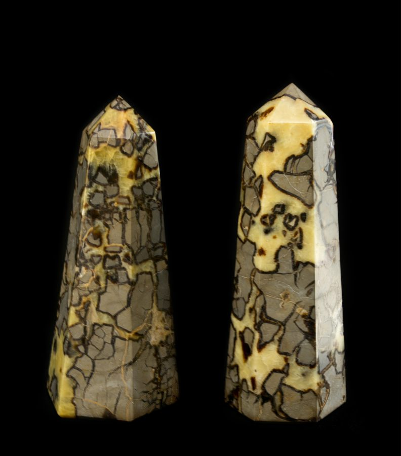 Septarian Points 1.left H34 W18 D16 £1,400 right H36 W15 D15 £1,600