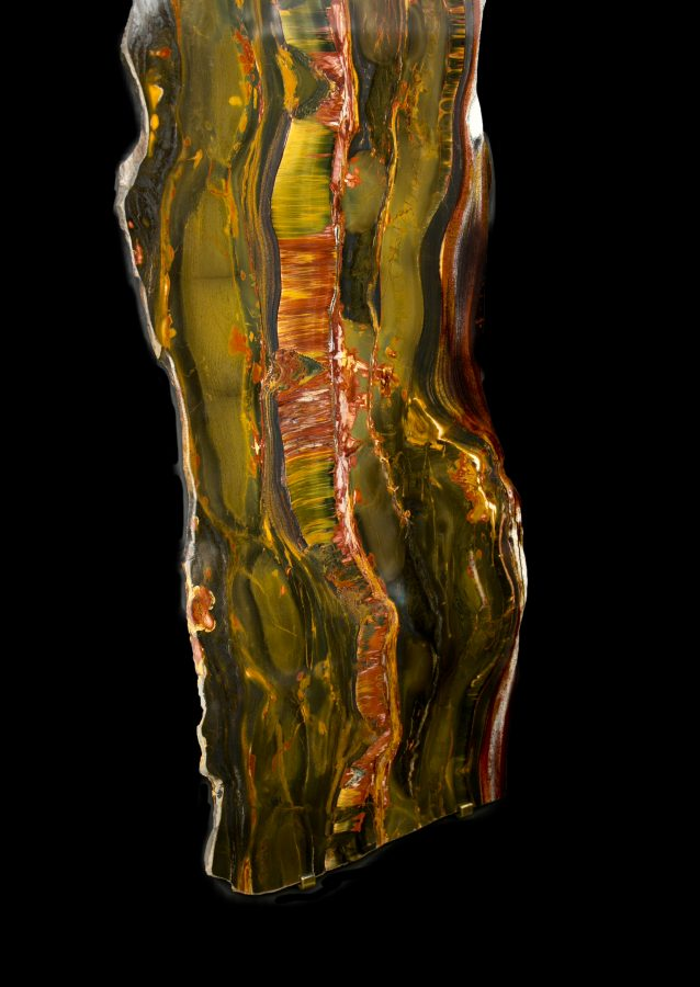 1.4 Tiger Eye Slabs H122 W32 D1.5cms £14,500 each