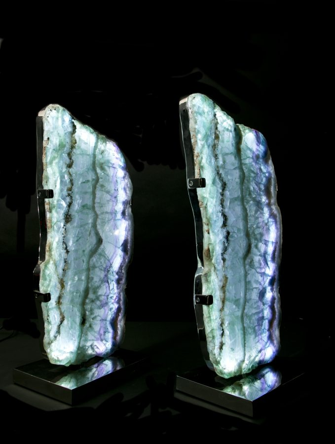 1.6Fluorite Lights H59 W28 D18 pair£6.5k