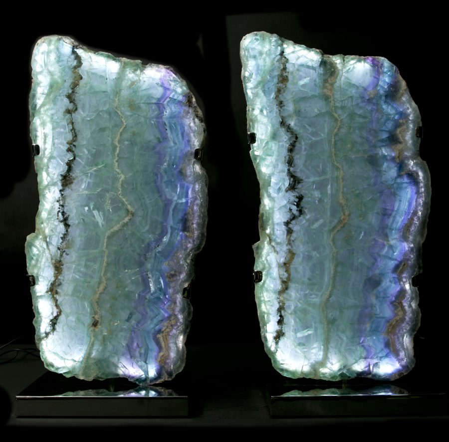 1.Fluorite Lights H59 W28 D18 pair£6.5k