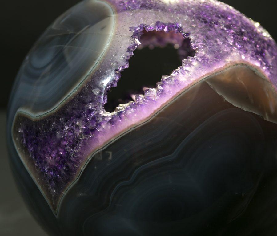 10.Amethyst Agate Sphere.2 D20 cms £4.8k