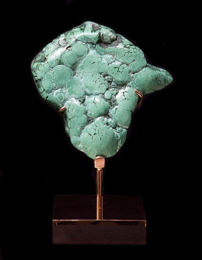 11. Malachite BRONZE H40cm W17cm D17cm