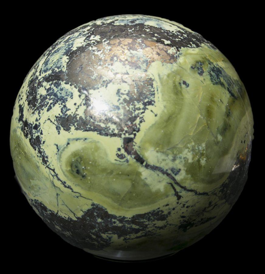 11.Serpentine Pyrite Sphere Dia 20cms £3k