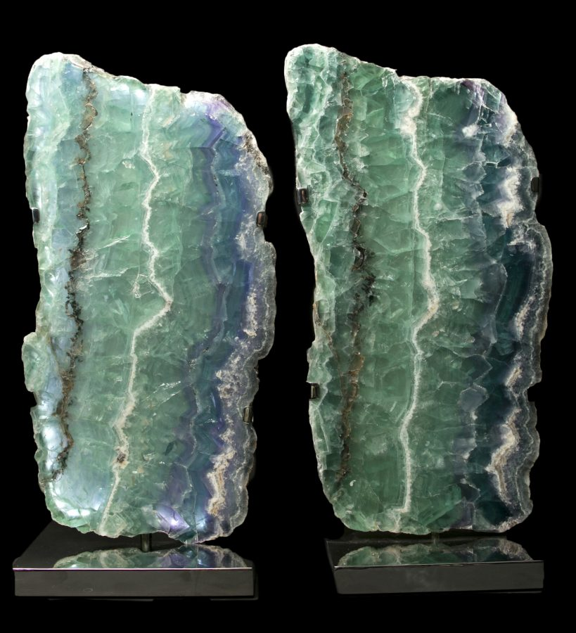 2.Fluorite Lights H59 W28 D18 pair£6.5k