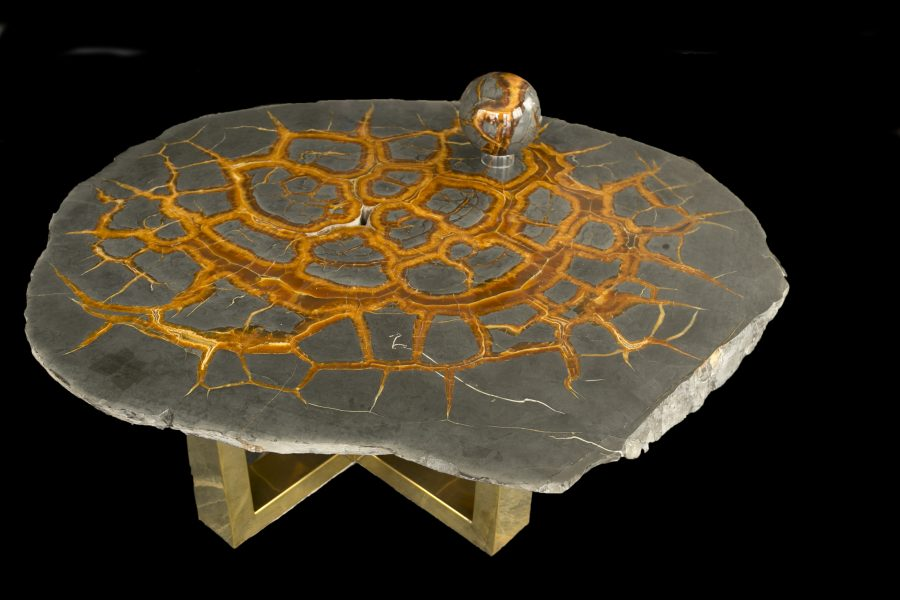 2.Septarian Table H49.5 W126 D107cms £25,000 no legs